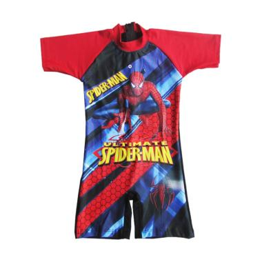 Rainy Collections Karakter Spiderman Jaring Baju Renang Anak [Size TK]