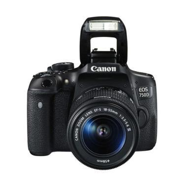 Canon EOS 750D Kit EF-S 18-55MM III ... Memory 16GB + Screenguard