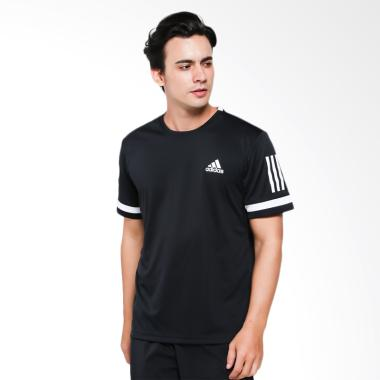 adidas Men Tennis 3-Stripes Club Tee Kaos Olahraga Pria [CE1425]