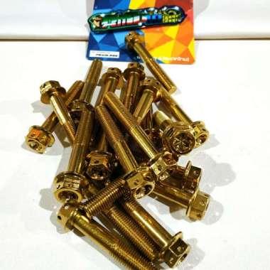 harga BAUT PROBOLT FLOWER GOLD DRAT 14 PANJANG 8CM BAUT M10X80 HENGS Multicolor Blibli.com