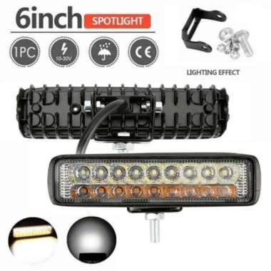 harga Lampu Tembak Sorot Motor Mobil 2 Warna LED 18 mata Custom Offroad Jeep - 2 WARNA LED 100 % ORIGINAL Multicolor Blibli.com