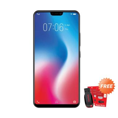 VIVO V9 Pro Smartphone - Red [64GB/ 6GB] + Free Flashdisk 16 GB