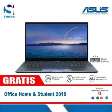 harga Asus ZenBook Pro 15 UX535LI-OLED712SP Notebook [Core i7-10870H/16GB/1TB SSD/VGA 4GB/15.6″ Touch/Win 10 Home+OHS 2019] Pine Grey Blibli.com