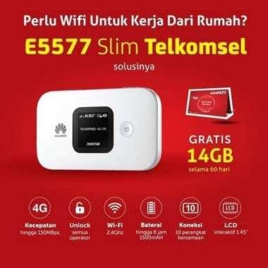 harga Mifi Modem Wifi 4G Huawei E5577 Slim Free Telkomsel 14Gb UNLOCK MULTY COLOUR Blibli.com