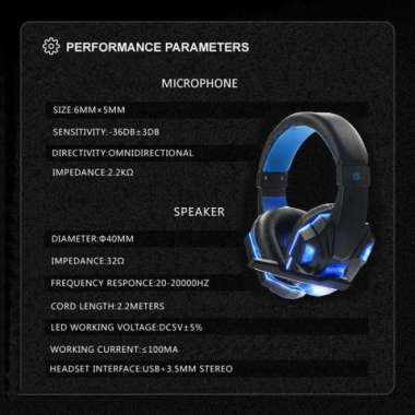 harga RECOMMENDED GAMING HEADPHONE HEADSET LED WITH MIC - SY830MV - MERAH Blibli.com