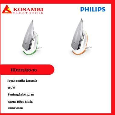 harga Setrika Philips HD-1173-50/70 Hijau Muda Blibli.com
