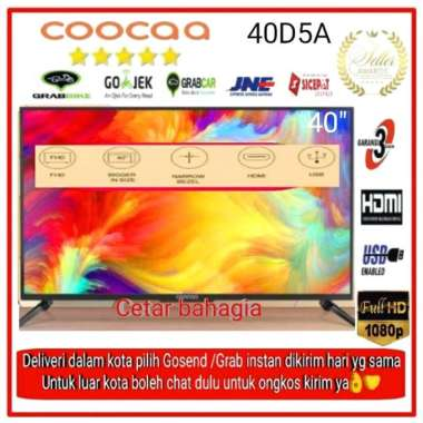 harga Jual Coocaa Led Tv 40 Inch (Dijamin Murah) 40D5 Full Hd Garansi Resmi 3 Th Multicolor Blibli.com