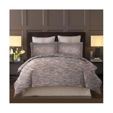 King Rabbit Motif Latte Bed Cover