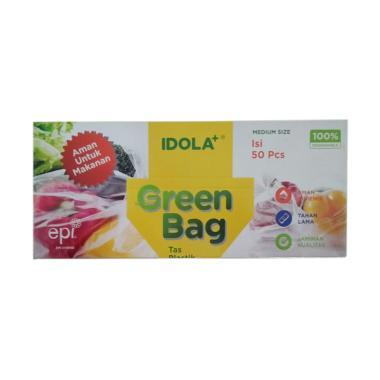 IDOLA Plastik Green Bag Tas Plastik [50 pcs/ 4 Kotak]