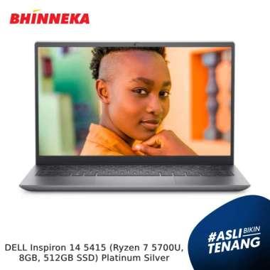 harga DELL Inspiron 14 5415 (Ryzen 7 5700U, 8GB, 512GB SSD) Platinum Silver Blibli.com