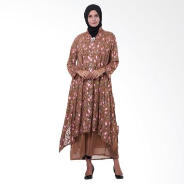 Kasa Heritage Talitha Long Dress Gamis Wanita - Brown Latte