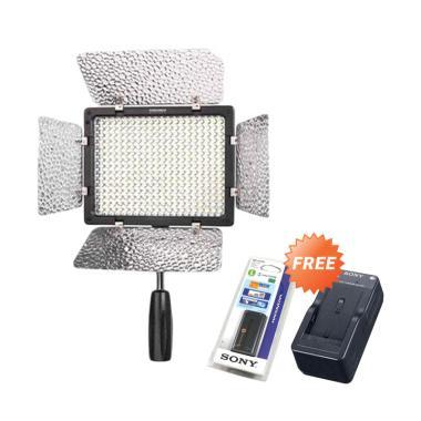 Yongnuo YN-300III LED Camera Video  ...  Free Battery dan Charger