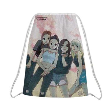 Cropper Printing Kpop Black Pink AN01 Serut Tas Sekolah