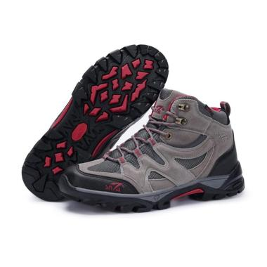 Snta Footwear Sepatu Gunung Pria - Grey Red [491]