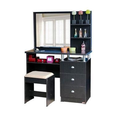 MD Furniture Meja Rias - Walnut [3 Laci]