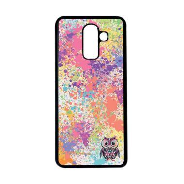 harga HEAVENCASE Motif Unik Burung Owl Cute Softcase Casing for Samsung Galaxy J8 - Hitam Blibli.com
