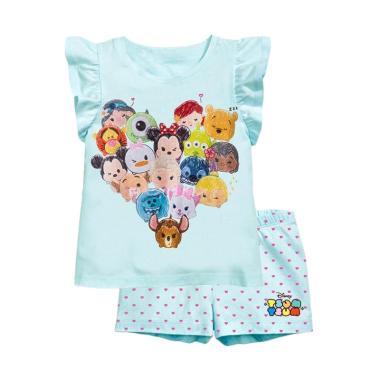 harga GBS Royal Kids Drawing Disney Tsum-Tsum Setelan Baju Anak Perempuan 18-24 bulan Soft Blue Blibli.com
