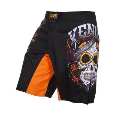 Venum Santa Muerte 2.0 Fight Shorts Celana MMA Pria - Black