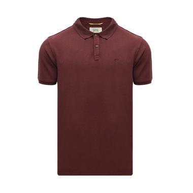 c75e59721 Camel Active Red Jacquard Slub Polo Shirt - Red