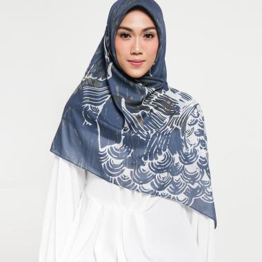 Pelangi Asmara Maldives Nautilus Hijab Segi Empat - Dark Blue