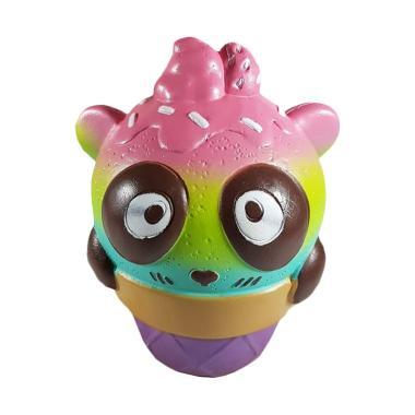 OEM Squishy Jumbo Sundae Ice Cream Cone Panda Strawberry Mainan Anak - Hijau