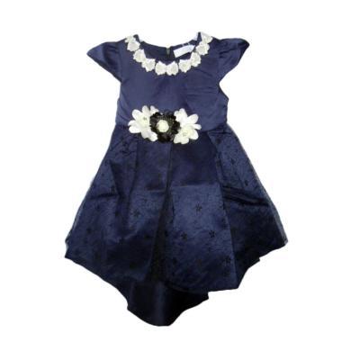 VERINA BABY Variasi Flowers Dress Pesta Anak - Blue