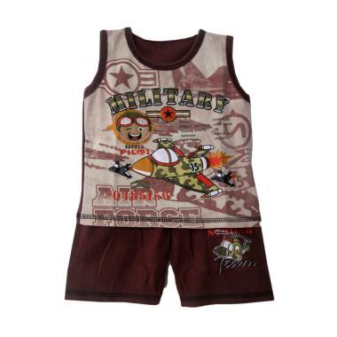 TWO MIX Military Setelan Baju Anak Laki-Laki