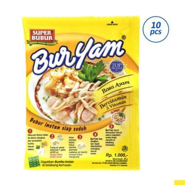 harga BurYam Bubur Instant Gurih Enak - 10pcs x 27gr Blibli.com