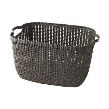 UCHII Multi Purpose Home Basket Keranjang Plastik Anyam Serbaguna [Size L]