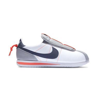 new style 562fd ca3fb NIKE Men Cortez Basic Slip Kendrick Lamar Sepatu Sneakers Pria - White  [AV2950-100]