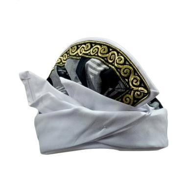 harga Egar Bali Tepi Poleng Kombinasi Ukiran Emas Udeng Pria - Putih Blibli.com