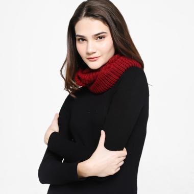 Harga Penawaran SCOPO Double Loops Syal Wanita - Merah Tua periksa peringkat