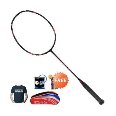 Hi-Qua Ultrasonic 900 Raket Badminton + Free Tas + Kaos + Senar + Grip