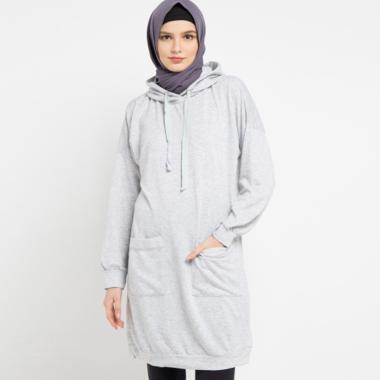 Zahra Signature Babyterry Tunic Jacket Muslim Wanita - Grey
