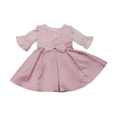 harga VERINA BABY Brukat Variasi Pita Dress Pesta Anak - Pink 4 tahun Pink Blibli.com