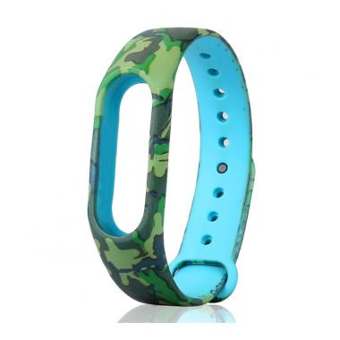 Bluelans #10 Camouflage Flower Replacement Wristband TPU Strap Bracelet for Xiaomi Mi Band 2