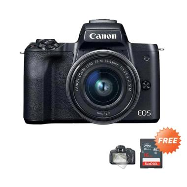 harga Canon EOS M50 Kit 15-45 mm Mirrorless + Free Screenguard Terpasang + SDHC 16GB Blibli.com
