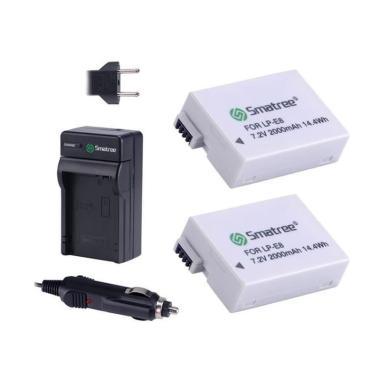 harga Smatree Battery Canon LP-E8 [2-Pack] + Charger Blibli.com
