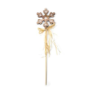 harga Bluelans #4 Wooden Star Snowflake Cake Topper with Straw Christmas Tree Party Decor Blibli.com