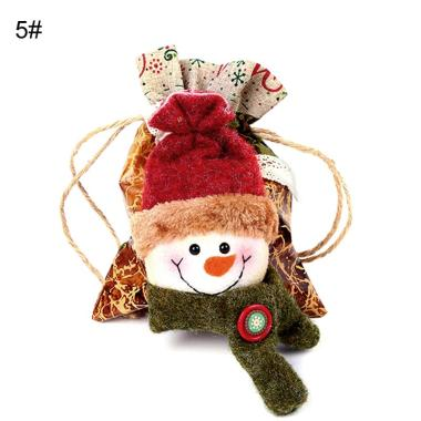 harga Bluelans #14 Christmas Santa Deer Snowman Pattern Apple Candy Gift Storage Bag Tree Decor Blibli.com