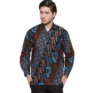 harga Batik JTG - Kemeja Batik Pria Lengan Panjang - Batik Blue Seno Blibli.com