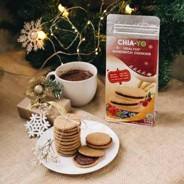 harga Chia-yo Mix Berries Sandwich Cookies [4 Pack/ Christmas Package] Blibli.com