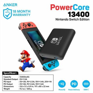 harga Anker PowerCore Power Delivery Nintendo Switch Edition PowerBank 13400 Blibli.com
