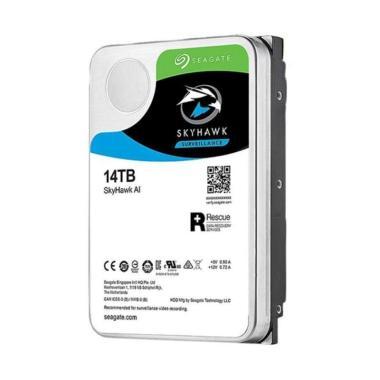 harga Seagate Skyhawk Surveillance Hard Disk [SATA/ 3.5 Inch/ 14TB] hitam - biru muda Blibli.com