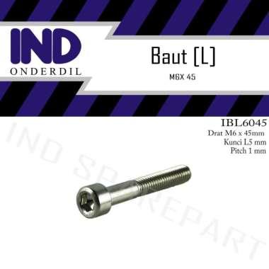 harga IND Onderdil L L5 M6x45 Kunci K-5 P-Pitch 1Baut Bolt Blibli.com
