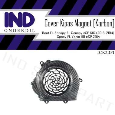 harga IND Onderdil Tutup Cover Pelindung Kipas Magnet Mesin Carbon Honda Beat FI Old-Spacy FI Awal-Scoopy F1 Lama  Hitam Blibli.com
