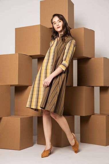 Berrybenka Jemima Contrast Shirt Dress