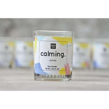 harga Muno Folk Soy Scented Candle Aromatherapy Glass [75ml] - Calming (Coffee) Blibli.com