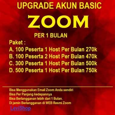 Zoom premium pro 1 bulan - Zoom Meeting business - Zoom langganan 100 300 500 peserta - Zoom meeting 300 peserta 1 Host - Upgrade Akun Zoom Basic Paket A