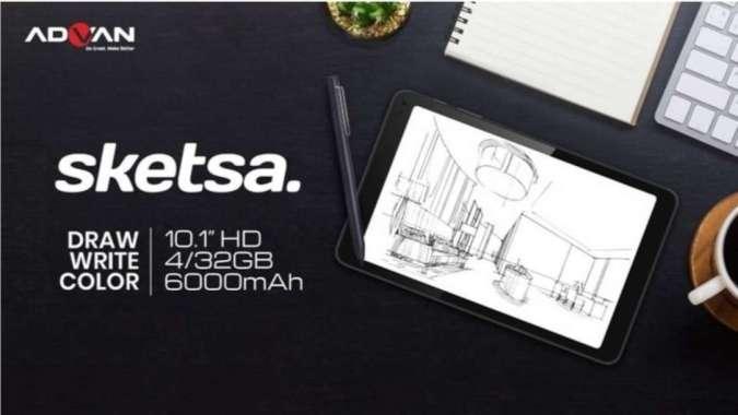 harga Advan TAB 10 Inch SKETSA RAM 4GB / ROM 32GB RESMI Blibli.com